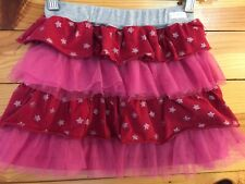 Naartjie Red Star & Tulle Tiered Skirt Girls Size 6