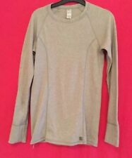 Ladies Grey Long Sleeved Fitted Top Size 10 By M&S