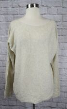 Vince. L Large Oatmeal Ivory Wool Cashmere Boatneck Sweater