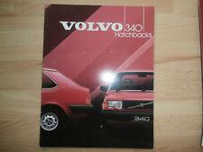 VOLVO 340 Hatchbacks original1984 English Mkt prestige sales brochure.near Mint
