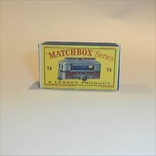 Matchbox Lesney 74 a Refreshment Canteen Repro D style Empty Box