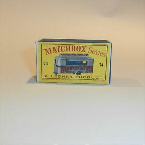 Matchbox Lesney 74 a Refreshment Canteen Caravan Empty Repro D Style Box