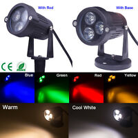 6 Color 9W LED Flood Lights Landscape Garden Yard Path Flood Spot Light Rod IP65