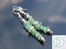 Aventurine Natural Chip Gemstone Earrings Drop Quartz Crystal Chakra Healing