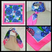 LILLY PULITZER Scarf Bandanna NWT Breast Cancer Awareness Pink Blue Scarves Ford