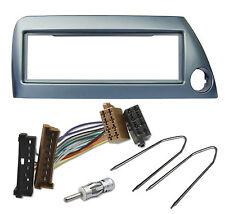 Radioblende Set für Ford KA 1996-2008 blau-metallic ISO Adapter Kabel Stecker
