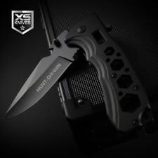 Black EDC Aluminum BOTTLE OPENER Spring Assisted Pocket Knife MULTI TOOL Wrench