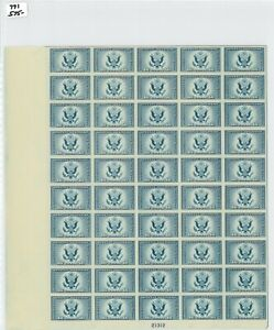 1935 US Special Delivery Postage Stamp #771 Plate No. 21312 Mint Full Sheet