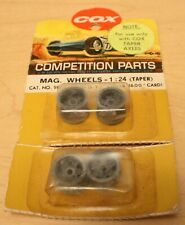 Vintage Cox 1:24 Scale No.9814 Ford G.T. Magnesium Wheels (Taper), New Old Stock