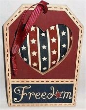 "Patriotic Hanging Sign Freedom 5"" X 3.5"""