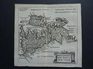1661 CLUVER atlas map BRITISH ISLES - Britannicarum Insularum Typus - England UK