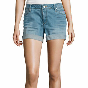 a.n.a Denim Roll Cuff Shorts Size 4, 8, 12, 14 New Msrp $44.00 Tinted Sky