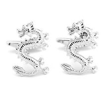 High Quality Cufflinks Dragon Silver Colour Cuff links Wales Welsh Beautiful