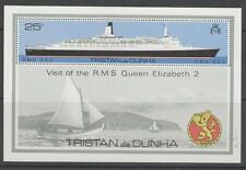 TRISTAN DA CUNHA SGMS263w 1979 VISIT OF QEII WMK CROWN TO RIGHT OF CA MNH