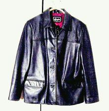Vtg Black NZ Lamb Leather Alegre by Adler Button Jacket Sz XL