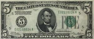 Series Of 1928 Five Dollars United States Note Richmond Virginia $5