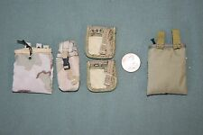"1:6 Modern US Army Ammo Gear Bag Pouches (Lot of 5) for 12"" Action Figures C-142"