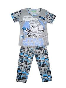 NEW! BOY'S LOUNGE/SLEEPWEAR PAJAMA SET (GRAY STAR WARS, SIZE 5-6Y)