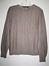 Large SALVATORE FERRAGAMO authentic womans brown mohair blend sweater top-$30.00