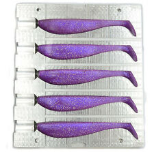 DIY CNC Aluminium Soft Plastic Lure Bait Mold  V125 4,7 inch / 120 mm 5 cavity