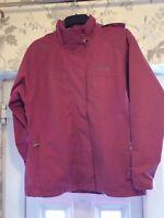 Women's Coat Trespass Pink Size M Zip Through With Hood Waterproof