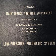 Original 1956 Convair F-102A Delta Dagger Low-Pressure Pneumatic System Manual
