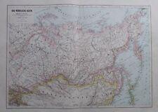 Karte aus 1889 - Das nördliche Asien - alte Landkarte map
