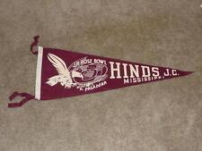 VINTAGE 1954 HINDS JR COLLEGE (MS) JR ROSE BOWL FOOTBALL PENNANT NEAR MINT