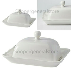 Butter Cheese Dish Plate Christmas Gift Decoration Ikea Procelain Of White Cream