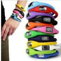 New Fashion Light Weigh Silicon Jelly Resin Rubber Gym Sports Wrist Watch Gift!