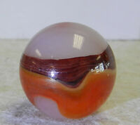 #12587m Large .75 Inches Akro Agate Carnelian Oxblood Marble