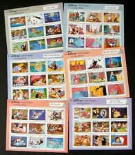 1987 GRENADA DISNEY CLASSIC FAIRYTALE STAMP SHEETS COLLECTION LOT CINDERELLA