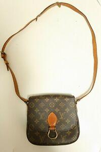 Authentic Louis Vuitton Saint Cloud MM Monogram Shoulder bag brown #7481