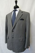 Men's Chester Barrie Savile Row Grey Striped Suit Jacket Blazer 42S CC8963