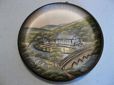 HERITAGE SERIES - Wooden PLATE Numbered Hand-crafted in West-Germany - Pfaff  md