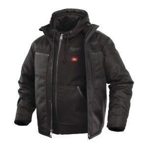 Milwaukee Jacke mit Akku-Thermo-Kapuzenpullover schwarz Gr. L ohne Akku