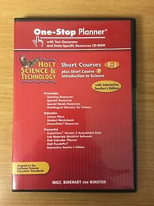 Holt Science DVD One-Stop Planner® (Short Courses F-J) Teacher Edition - NEW
