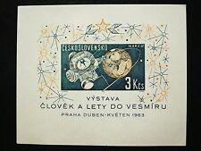 Czechoslovakia, 1963 Space Research Souvenir Sheet, Scott 1175, MNH
