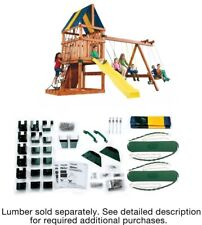 Swing Sets For Backyard Hardware Kit Children Kids Outdoor Play Fun Playset New