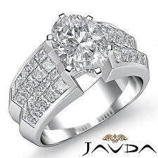 Brillante Forma Ovalada Diamante Único Anillo de Compromiso GIA G VS2 Platino