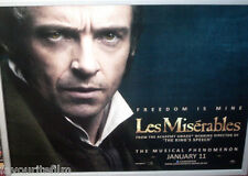Cinema Poster: LES MISERABLES 2013 (Jean Valjean Quad) Hugh Jackman RussellCrowe