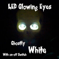 LED GLOWING EYES HALLOWEEN WHITE 5MM 9V ON/OFF SWITCH