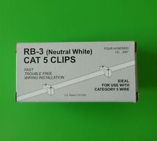 ( LOT OF 5 BOXES) Cat5 (05NW-Neutral White) Telecrafter Cable Clip/Staple