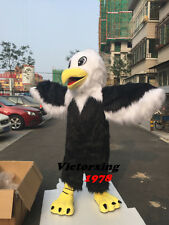 2018 Eagle Mascot Costume Animals Parade Cosplay Deluxe Long Fur Cartoon Outfit