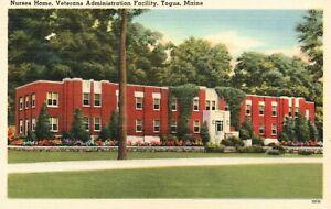 Vintage Postcard 1930's Nurses Home Veterans Administration Facility Togus Maine