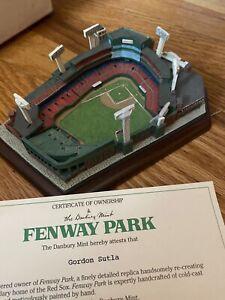 Danbury Mint Fenway Park Boston Red Sox Replica Stadium Original Box