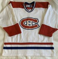 Montreal Canadiens JERSEY Official Licensed NHL CCM Hockey Canada Adult M White