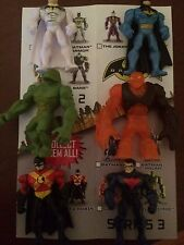 "BATMAN UNLIMITED MIGHTY MINIS SERIES 3A Complete Set  2"" FIGURE LOOSE UNUSED"