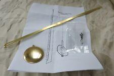 NEW Universal Brass Replacement Clock Part Pendulum + Hands Plated Gold Classic