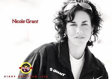 CYCLISME  carte cycliste NICOLE GRANT bycicle GIANT ATB-TEAM  1998